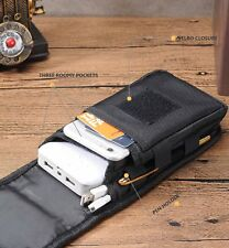 NYLON IPHONE 7 PLUS BELT CLIP HOLSTER MOLLE TACTICAL SMARTPHONE CARRY POUCH BIG