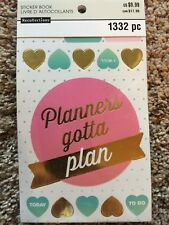 Planners Gotta Plan Sticker Book By Recollections™ 1332 NEW
