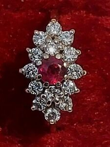 Ruby and Diamond Cluster 18ct Gold Ring