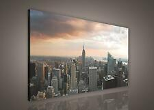 LEINWAND BILD WANDBILD BILDER (PP155O1) New York Stadt Wolkenkratzer 100x75cm