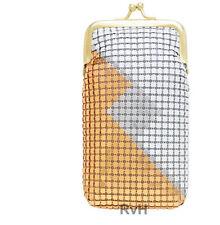 Stephanie's Luxuriant 120s Soft Mesh Cigarette Case Lighter Pocket (W/GLD/SLVR)