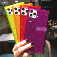 Square Shockproof Glitter Clear Case Cover For iPhone 12 11 Pro Max XS XR 7 8 SE