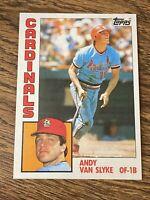 Vintage 1984 Topps #206 ANDY VAN SLYKE RC Cardinals Pirates OF 1B RARE NrMt/Mt