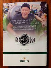 Original 2013 Rolex Oyster Perpetual Deepsea Watch Print Ad