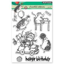 PENNY BLACK RUBBER STAMPS CLEAR CHEERFUL CRITTERS NEW clear STAMP SET