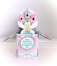 Handmade pop up box personalised Granddaughter/Goddaughter/ etc birthday card