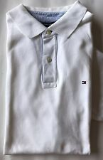 Tommy Hilfiger Men Polo Shirt White XL Short Sleeve Cotton