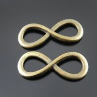 40pcs Antiqued Bronze Alloy Infinity Charms Pendant Crafts Jewelry Making 37526