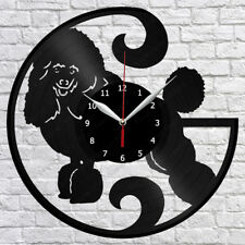 "Poodle Vinyl Record Wall Clock Fan Art Home Decor 12"" 30cm 1280"