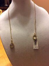 $52 Betsey Johnson Prisoner Of Love Handcuff Slider Necklace BP4