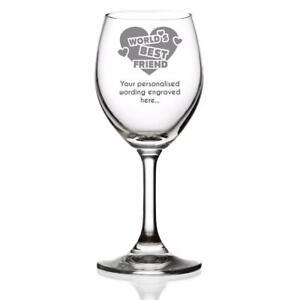 Best Friend Sentiment Personalised Engraved Wine Glass WBF-WG