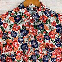 Vintage 80s The Men's Store Sears Rayon Hawaiian Shirt Aloha Colorful Large
