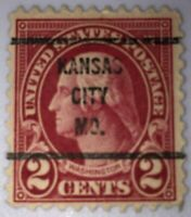 Very Rare 1923 Red George Washington 2 Cent Stamp #554