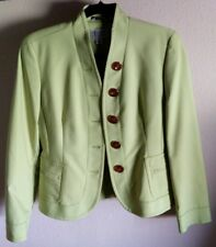 Talbots Collection Women's Lime Green 5 Button Blazer - Henley Collar - Size 4