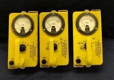 3 ea Victoreen Radiological Geiger Counter Survey Meter Detector CD V-715R 1A