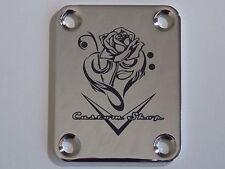 """Fender Strat/Tele Neck Plate - 2124 Customs """"Rose"""""""