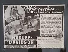 Vintage 1939 Harley-Davidson Motorcycle Original Vintage AD