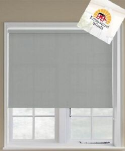 Roller blind plain non blackout Grey square edge Made to Measure up to 2.4mts