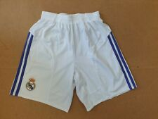 EE622 MENS ADIDAS WHITE PURPLE BLUE GOLD REAL MADRID FOOTBALL SHORTS UK 30-32