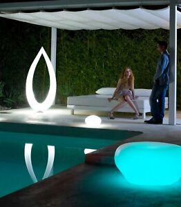 Outdoor Garden Light Floor Lamp 4 Light Leaf Design Anthracite / Opal White