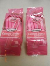 PERSONNA Razors 2 Packs of 10 = 20 Disposable Twin Blade Pink for the ladies NEW