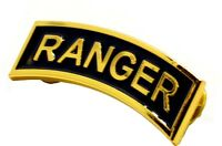 US Army RANGER Tab Insignia Metal Badge GOLD Pin (Large Size)