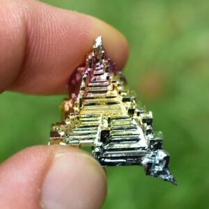1 Rainbow Bismuth Crystal 5-10g 2-3cm Titanium Specimen Mineral Chakra UK BUY✔