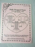 """Love and Stitches #554 Dolly Dropped Waist Sewing Pattern for 18"""" Dolls"""