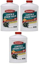 (3) ea Roebic K-57 32 oz Emergency Care Septic & Cesspool Bacterial Cleaner