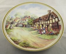 "Vintage Boxed 10"" Royal Vale Bone China Display Wall Plaque - Village Scene New"