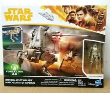 "HASBRO STAR WARS IMPERIAL AT-DT WALKER & 3.75"" STORMTROOPER MIMBAN FORCE LINK 2"