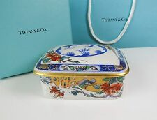 Le Tallec Private Stock Porcelain Trinket Dresser Box Hand Painted Paris Tiffany