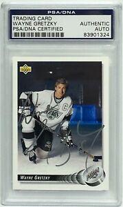 Wayne Gretzky Signed Los Angeles Kings 1992 Upper Deck Trading Card #99 PSA