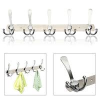 15 Hooks Coat Hat Clothes Robe Holder Rack Hook Wall Hanger stainless steel