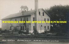New York Central Railroad Castorland NY milk statuion c1910 postally unused RPPC
