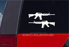 set of 2 - M4 Carbine Gun decals / stickers -hunt 7 in.