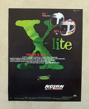E600 - Advertising Pubblicità -1997- NOLAN X-LITE CASCHI IN FIBRE COMPONIBILI