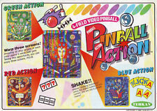 TEHKAN PINBALL ACTION VIDEO ARCADE GAME FLYER BROCHURE