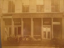 ANTIQUE 209 MADISON CHICAGO ROGERS CO HATS FURS ARCHITECTURE FIGURE 1870s PHOTO