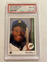 1989 Upper Deck Ken Griffey JR Rookie Card #1 PSA 8
