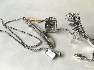 Coach skull charm set necklace-metallic