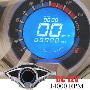 1PC Universal Motorcycle Digital LCD Odometer Speedometer Tachometer Speed Gauge