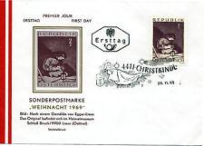 """Österreich FDC Mi. Nr. 1318 """" Weihnachten 1969 """" - Stempel Christkindl"""