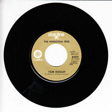 THE KINGSTON TRIO Tom Dooley VG(+) 45 RPM REISSUE