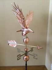 Good Directions Polished Copper Freedom Eagle Weathervane - 1970P w/Roof Mount