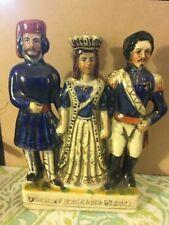 Lg Staffordshire Turkey England France Crimean War Commemorative Trio Figurine