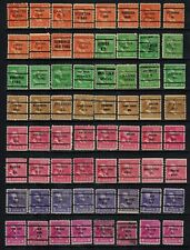 United States Precancels on 1938 Presidents to 50¢ (2), 128 diff, F/VF