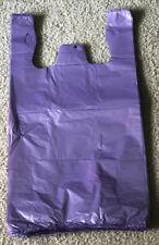 100 Purple Plastic T-shirt Retail Shopping Grocery Bags Handles Small 6x3x13