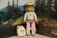 "American Girl Nicki ""Ranch Outfit & Western Riding Hat""-COMPLETE-RETIRE-RARE-EUC"