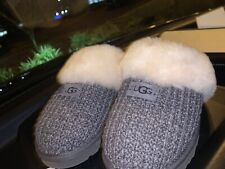 UGG Women's Sweater Cozy Knit Slippers Charcoal Gray Size 10